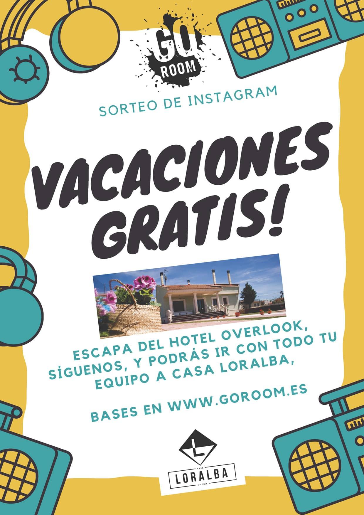 Vacaciones Gratis con GoRoom y Casa Loralba